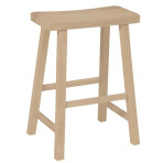 24″ Saddle Seat Stool