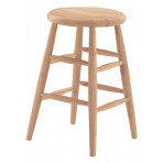 24″ Scoop Seat Stool