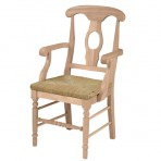 Empire Arm Chair w/ Rush Seat