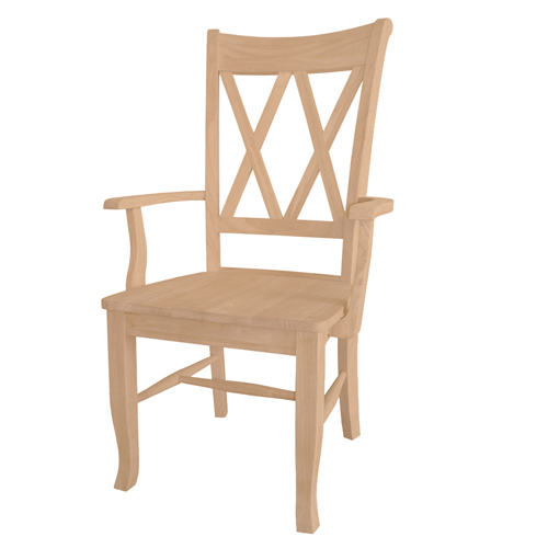 Double X-Back Arm Chair