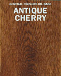 Antique Cherry on Oak