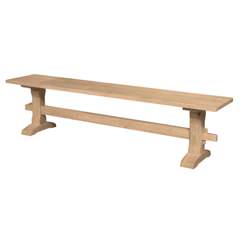 72 Trestle Bench Generations Home Furnishings