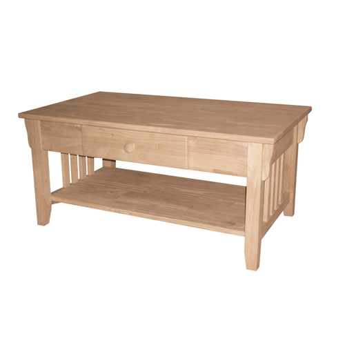 Mission Coffee Table With Drawer Generations Home Furnishings