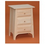 Abram Three Drawer Nightstand