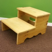Pine Two Step Stool
