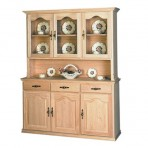 Traditional 3 Door China Cabinet