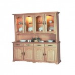 Traditional Four Door China Cabinet