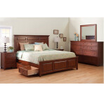 McKenzie Mantel Storage Platform Bed