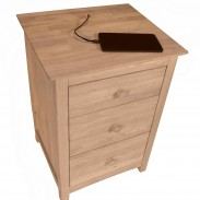 Lancaster Nightstand with Cord Storage