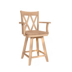 Double X Swivel Arm Stool [24″ & 30″]