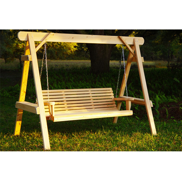 Cypress a frame swing round top generations home for Round porch swing