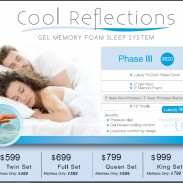 XL Twin Cool Reflections Gel Memory Foam Mattress