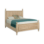 Cottage Storage Platform Bed Frame