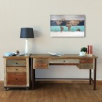 Arcadia Antiqued Desk [60″]