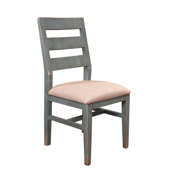 Arcadia Antiqued Teal Uph Chair