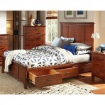 Prairie City Mantel Storage Platform Bed Frame