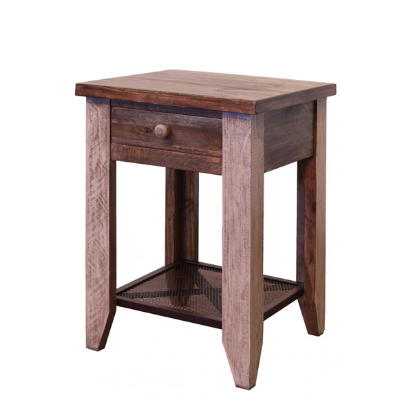Arcadia Antiqued End Table