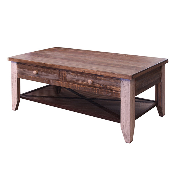 Arcadia Antiqued Coffee Table