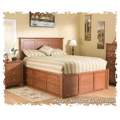 Alder Shaker Storage Platform Bed Generations Home